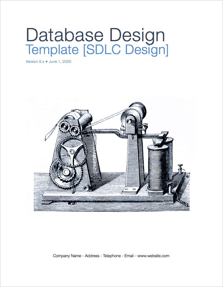 Database Design Template (Apple iWork Pages) + Data Model ...