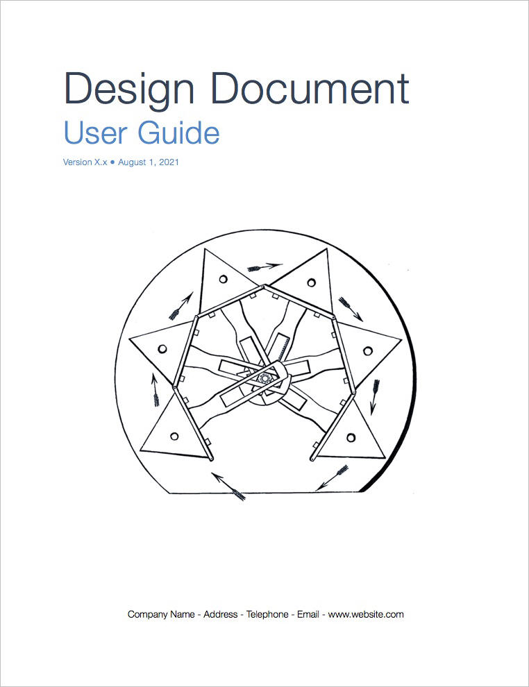 Design Document Template (Apple iWork Pages and Numbers)