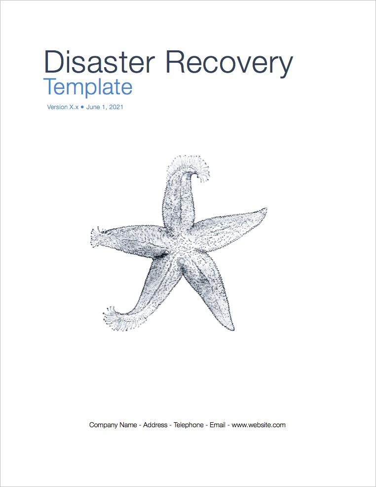 Disaster Recovery Plan Template (Apple iWork Pages and