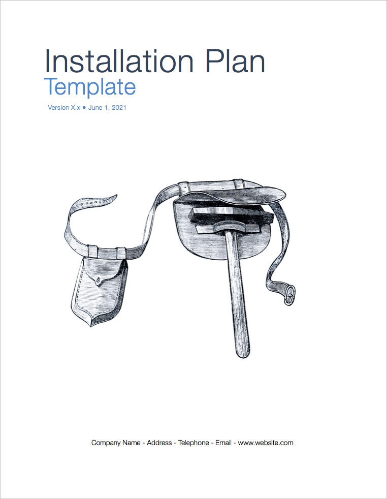 Installation Plan Template (Apple iWork Pages)