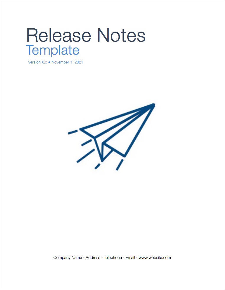 Release Notes Template (Apple iWork Pages)