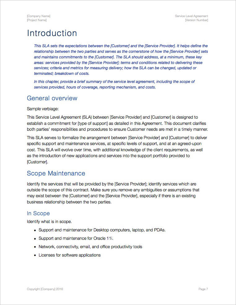 An sla should record a common understanding about services, priorities, responsibilities, guarantees, and possibly the right to. Service Level Agreement Template Apple Iwork Pages Numbers Templates Forms Checklists For Ms Office And Apple Iwork