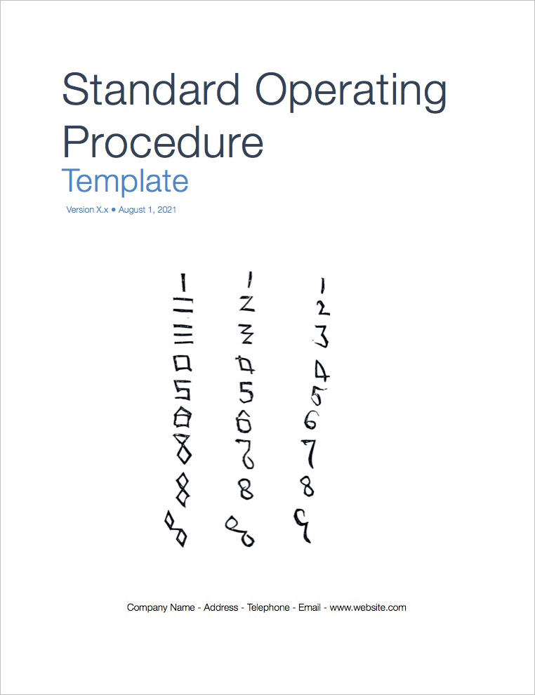 Standard Operating Procedure Template (Apple iWork Pages