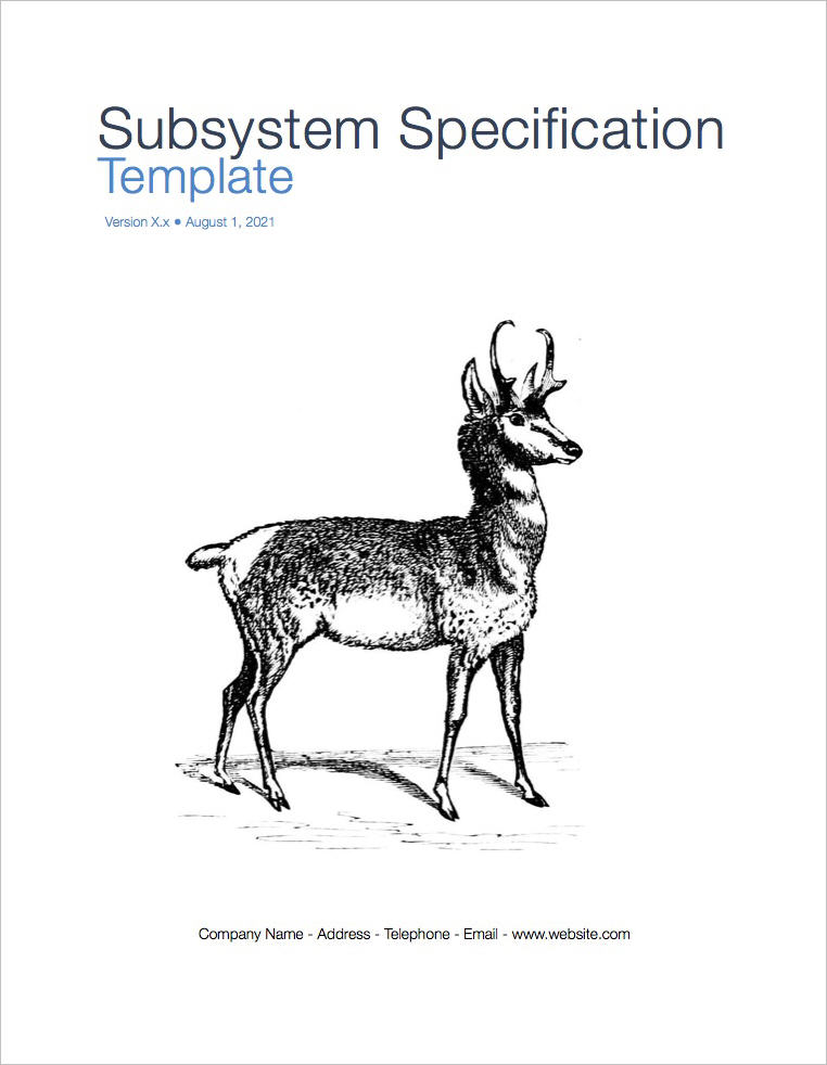 Subsystem Specification Template (Apple iWork Pages