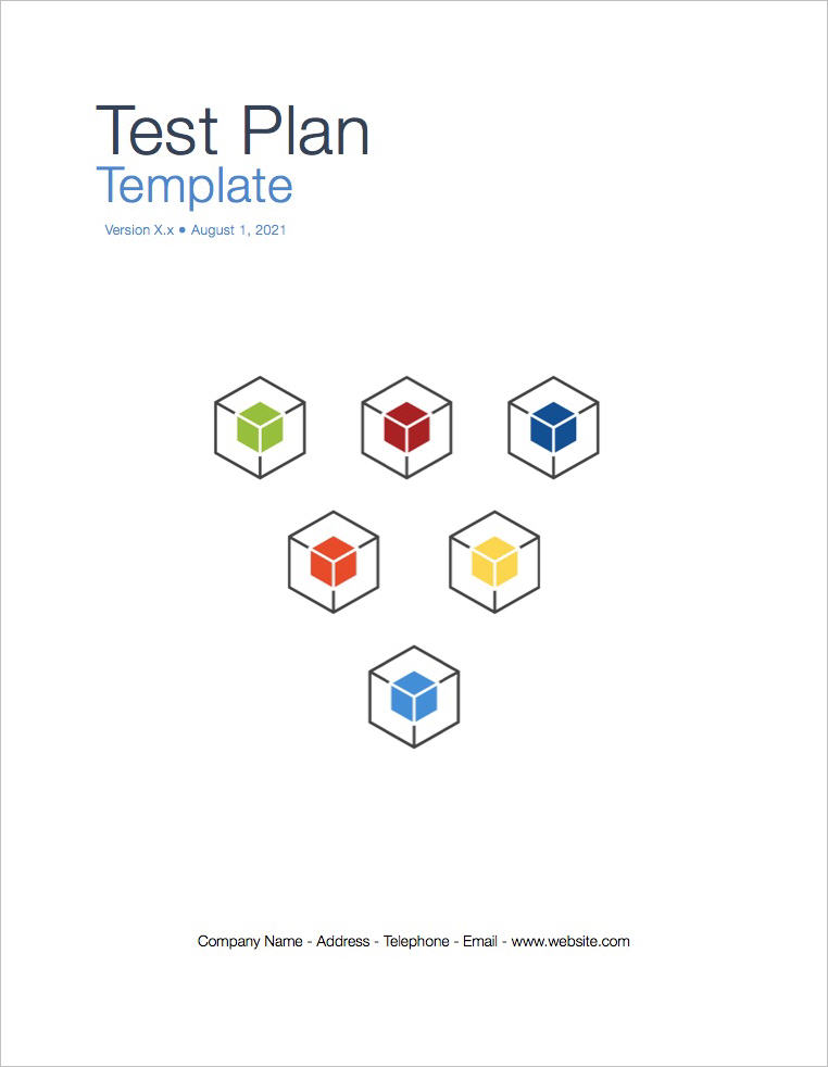 Test Plan Template (Apple iWork Pages and Numbers