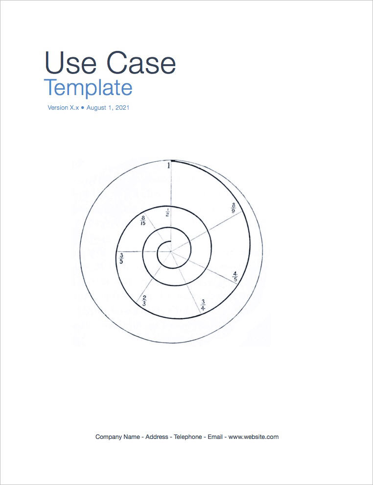 Use Case Template (Apple iWork Pages and Numbers