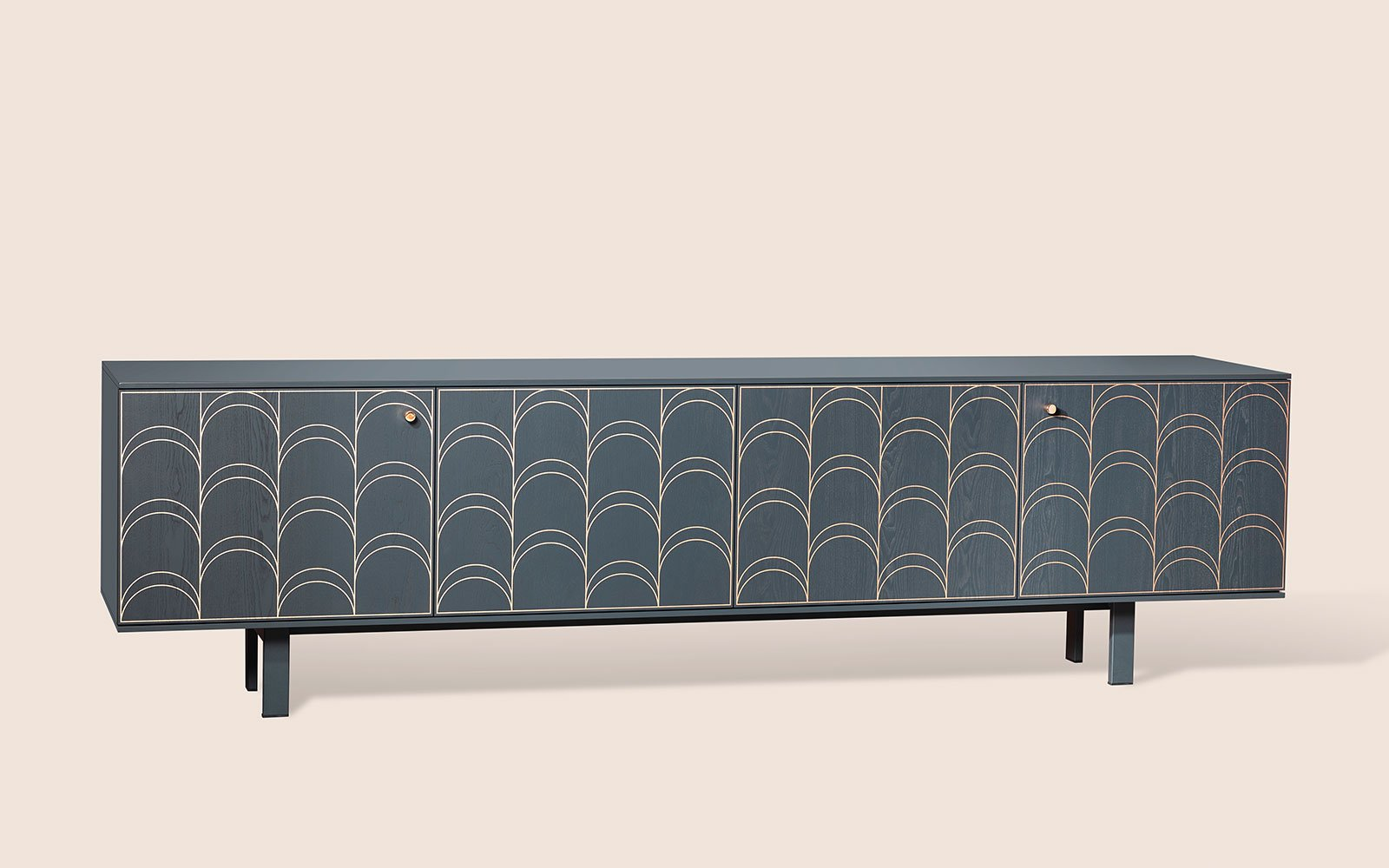 Sideboard Modern Celia 4 Door Modern Sideboard - Klarityfurniture.uk