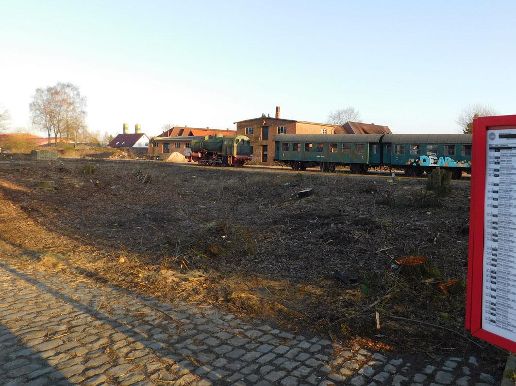 """Den Platz bereitet: Für das """"Nostalgie-Zug-Café"""""""