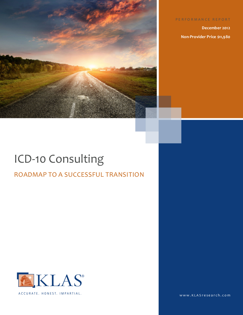 ICD10 Preparation Which Firm Has the Most Implementation Expertise  KLAS Report