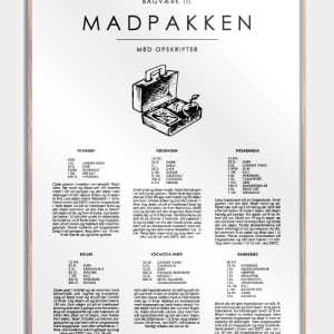 Madpakke guide plakat - De klassiske opskrifter