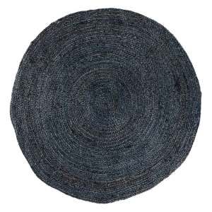 HOUSE NORDIC Bombay gulvtæppe - mørkegrå jute/bomuld, rundt (Ø180)