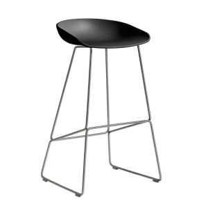 HAY About a Stool (AAS 38) - Sort/Rustfri Stål