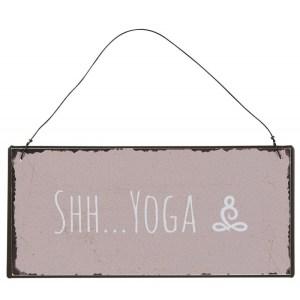 "Metalskilt ""Shh Yoga"" - Ib Laursen"