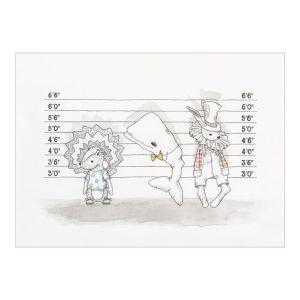 Plakat med forbryderdyr (A4)
