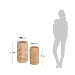 LAFORMA Celi urtepotte, rund - natur terrakotta (sæt m. 2) (Ø 25/34)