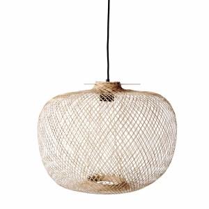 BLOOMINGVILLE Rodi pendel loftslampe, rund - natur bambus (Ø 42)