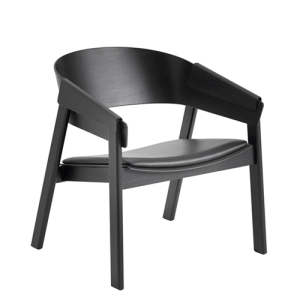 Muuto Cover Lounge Chair - Sort - Sort Læder
