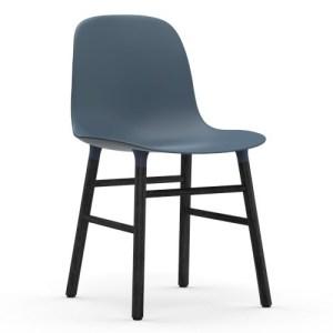 Normann Copenhagen Form stol Blå Sortbejds Eg