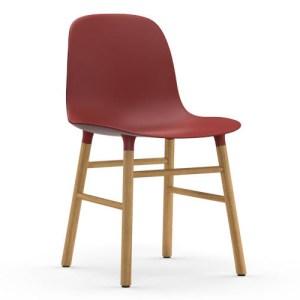 Normann Copenhagen Form stol Rød Eg