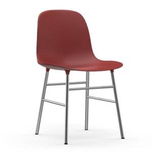 Normann Copenhagen Form stol Rød Krom