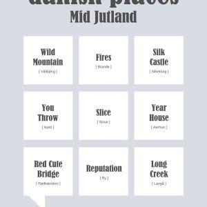 Danish places - Mid Jutland Plakat