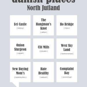 Danish places - North Jutland Plakat