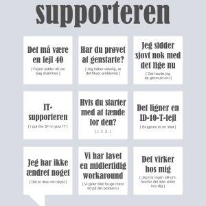 It-supporteren plakat