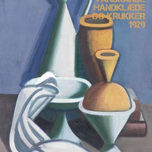 Opstilling med vandkande, håndklæde og krukker - Vilhelm Lundstrøm museumsplakat
