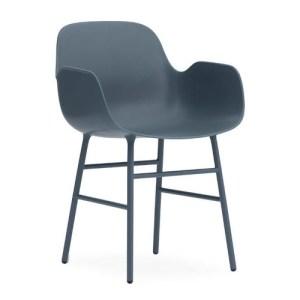 Normann Copenhagen Form Armchair Blue - Stålben