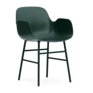Normann Copenhagen Form Armchair Green - Stålben