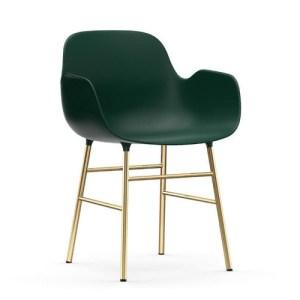 Normann Copenhagen Form Armchair Green - messingben