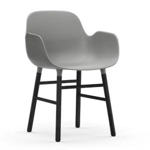 Normann Copenhagen Form Armchair Grey Sortbejds Eg