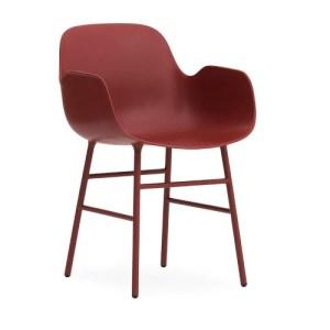 Normann Copenhagen Form Armchair Red - Stålben
