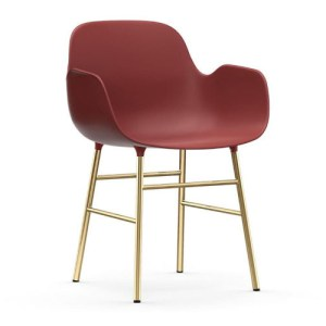 Normann Copenhagen Form Armchair Red - messingben