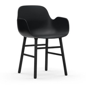 Normann Copenhagen Form Armchair Sort Sortbejds Eg