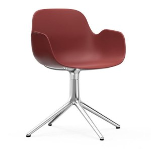 Normann Copenhagen Form drejestol med armlæn Red - Alu