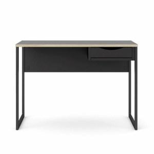 TVILUM Function Plus skrivebord, m. skuffe - sort folie og sort stål (110x48,4)