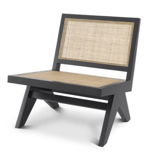 Eichholtz Chair Romee - Sort - Rattan Cane Webbing