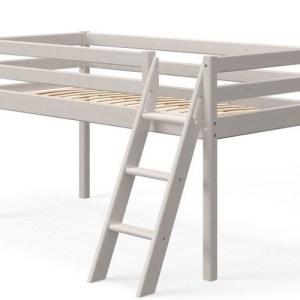 Flexa Classic halvhøj seng - skrå sige - gråpigmenteret