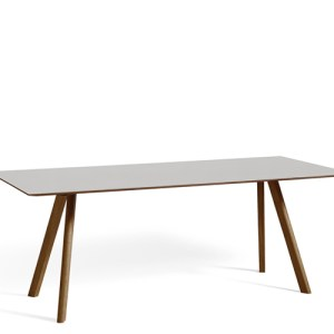 HAY CPH30 Table - 200x90cm - Valnød - Pebble Grey Linolium