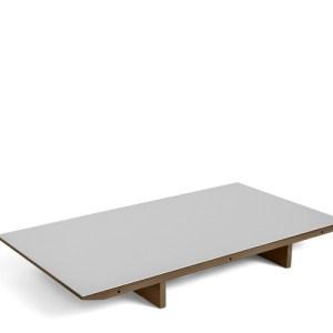 HAY CPH30 Tillægsplade - Valnød - Pebble Grey Linolium - B:90cm.