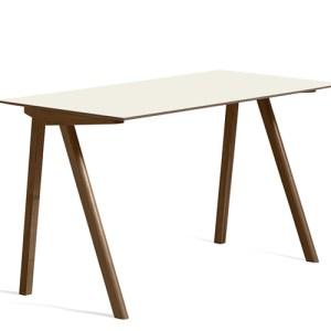 HAY CPH90 Desk - Valnød - Off White Linolium - Mat Lak