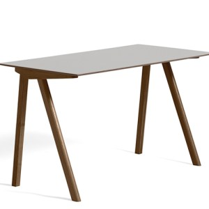 HAY CPH90 Desk - Valnød - Pebble Grey Linolium - Mat Lak