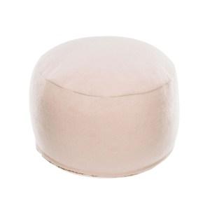 LAFORMA Flaminia puf, rund - lyserød uld (Ø45)