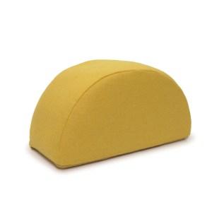 LAFORMA Jalila puf, halvcirkel - gul uld