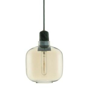Normann Copenhagen Amp lampe - small - guld/grøn