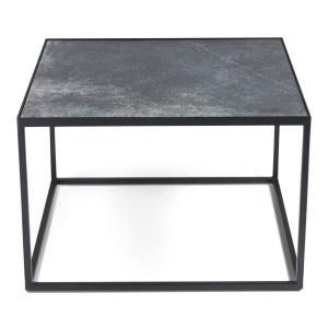 SPINDER DESIGN Tijl sofabord - sort keramik og sort stål (60x60)
