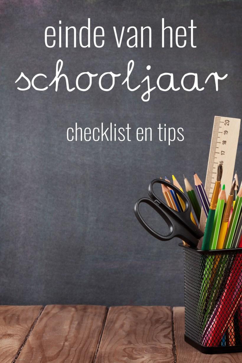 5 tips voor het einde van het schooljaar!