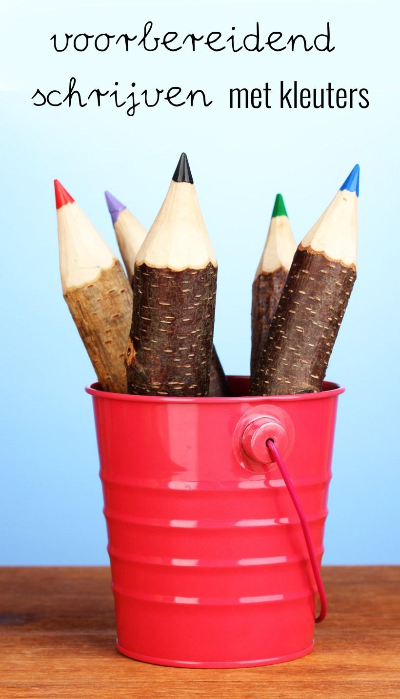 Voorbereidend schrijven met kleuters, wat houdt dat in?