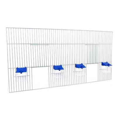 Front dobudowy klatek dla ptaków 80x40 zpoidełkami